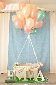 Hot Air Balloon Photo shoot ...get rid of the name and take this to a nice outdoor location...Beautiful!!! See more party ideas at CatchMyParty.com.