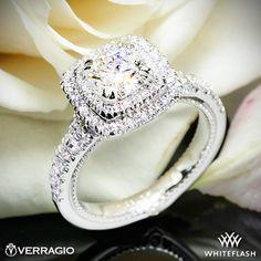 Verragio Diamond Halo Engagement Ring in 18k White Gold