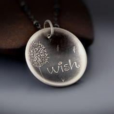 Dandelion Wish Necklace | etched sterling silver by Lisa Hopkins Design