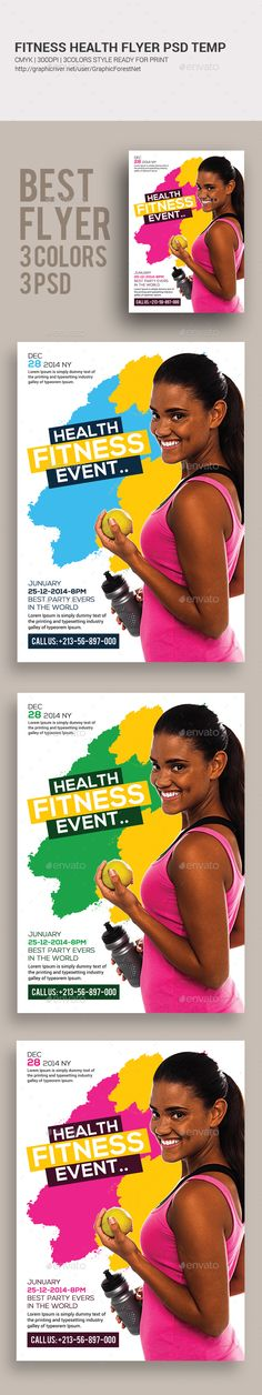 Fitness Class Flyer Template Flyer template, Print templates and - fitness flyer template