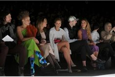 """Socialite and Toronto """"It Girl """"Ainsley Kerr in the front row, in white, last year at Toronto fashion week. She will be there again next  week for the Fall 2015 collections."""