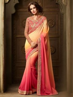 Multi+Color+Latest+Indian+Designer+Saree+Blouse+For+Women+Party+Wear