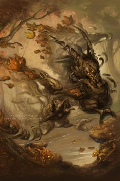 ✯ The Howling Autumn :: Artist Christina Yen ✯ —There's nothing hokey, or cute, here. The metaphor is chilling, and I'd be proud to have such an illustration on one of my books.