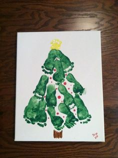 baby's first christmas or a fun craft to do with kids Babies First Christmas, Christmas Crafts For Kids, Christmas Baby, Baby Crafts, Christmas Projects, Holiday Crafts, Holiday Fun, Christmas Holidays, Christmas Ideas