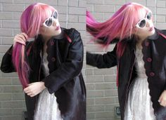 pink gothic lolita | ... pink hair, long pink hairstyle, pink haired girl, goth fashion