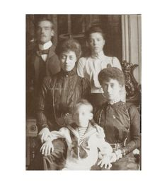"""Grand Duke Mikhail Alexandrovich and Grand Duchess Olga Alexandrovna with their English relatives in Denmark, 1890s """