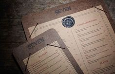 So here's a collection of Restaurant Menu Designs that try to draw attention to items they want to sell most—those, of course, that are most profitable. Menu Restaurant, Restaurant Identity, Restaurant Design, Menue Design, Menu Card Design, Stationery Design, Web Design Blog, Seven Bar, Coffee Shop Menu