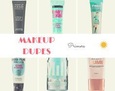 5 MAKEUP PRIMER DUPES Under $10 - Katrissa Talks #makeup, #makeupdupes, #budgetmakeup, #highendvsdrugstore, #bestdrugstoremakeup, #drugtore makeup, #dupe, #makeup dupe, #popular, #must buy,