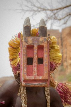 Traditional dogon masque, pays dogon, Tireli, Mali by Anthony Pappone…