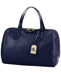 Lauren Ralph Lauren Tate Large Barrel Satchel - Designer Handbags - Handbags & Accessories - Macy's