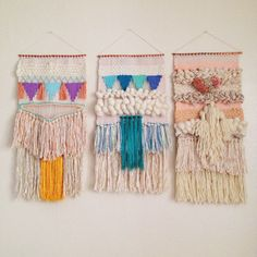 Woven wall hanging / weaving tapestry by Maryanne Moodie  www.maryannemoodie.com