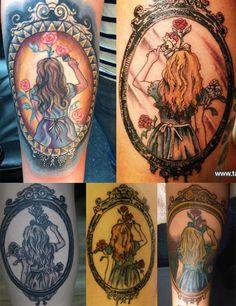 sexy disney tattoos for Women | alice alice in wonderland tattoo disney disney ink ink katie woodger