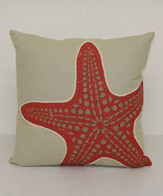 Look at this #zulilyfind! Coral Starfish Throw Pillow by Brentwood Originals #zulilyfinds