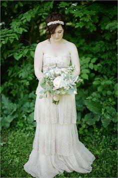tiffany + jay | Rosecliff Gown from @BHLDN | via: wedding chicks | #BHLDNbride