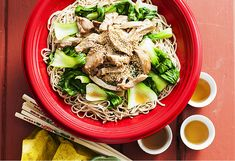 This low-fat chicken & noodle salad is quick & easy. The mix of ginger, honey & garlic give chicken beautiful flavour, while bok choy adds crisp texture.