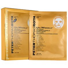 6 Pack - Peter Thomas Roth Un-Wrinkle 24K Gold Intense Wrinkle Sheet Mask 6 ea MyChelle Dermaceuticals, Exfoliators & Masks, Clear Skin Cranberry Mud Mask, Oily/Blemish, 1.2 fl oz(pack of 4)