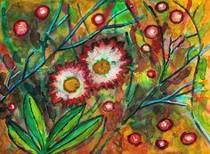 """""""Bellis perennis"""", watercolour on paper, 30 x 40 cm Bellis Perennis, Find Image, Watercolour, Daisy, Paintings, Paper, Illustration, Flowers, Art"""