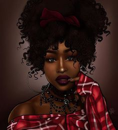 *BLACK BEAUTY Sexy Black Art, Black Love Art, Black Girl Art, My Black Is Beautiful, Black Girl Magic, Art Girl, Natural Hair Art, Natural Hair Styles, Fantasy Girl