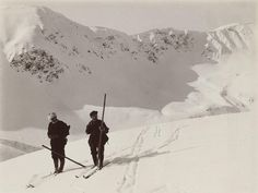 Early ski mountaineering in the High Tatras, Poland. Circa 1905. The more I read about the High Tatra Mountains the more interested I get in going over and visiting. They have a skiing and climbing history as old as anywhere in Europe. I bet the spring ski touring is fantastic. Who wants to go?