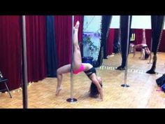 Pole Dance Tutorial with @Mina Mortezaie : Dolphin Roll off the Pole.