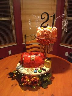 Birthday Cakes - Micheal kors purse cake for my cousins 21st birthday, unique cake, purse, michael Kors purse cake