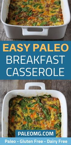 Breakfast casserole is such a filling meal that the whole family can enjoy. We want to share one of our favorite easy breakfast casserole recipes that is gluten free and dairy free. It is the perfect healthy breakfast casserole recipe for a full house. Click on the pin to see just how easy this paleo breakfast casserole is. Don't forget to save it to your breakfast board so you can find it later. #paleorecipe #paleobreakfast #breakfastcasserole #casserolerecipe #easybreakfast Breakfast Lasagna, Easy Breakfast Casserole Recipes, Breakfast Casserole Sausage, Easy To Make Breakfast, Whole 30 Breakfast, Sweet Potato Breakfast, Bacon Casserole Recipes, Eating Carrots, Dairy Free