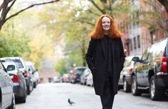 "Grace Coddington, the longtime creative director at Vogue, on West 12th Street in New York. A former model, she has written a memoir entitled ""Grace."""