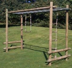 Langley® Ladderwalk freestanding with two straight ends from our children's Wooden Climbing Frames | Climbing Frames range