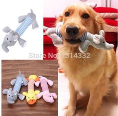 Dog Play Funny Toy Pet Puppy Chew Yellow Duck Squeaker Squeaky Plush Sound NW FD