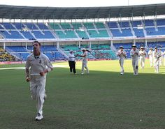 In Feb 2010, On a dead Nagpur track, Dale Steyn produced a Spell From Hell , Steyn got 7 & India went from 192 for 3 to 233 all out.   This is a pic of him leading his team off the ground after one of the best exhibitions of Fast Bowling on a dead and placid track