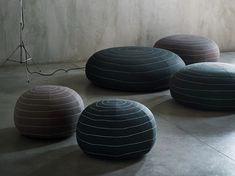 Upholstered fabric pouf SPIN by Tacchini Italia Forniture design Claesson Koivisto Rune