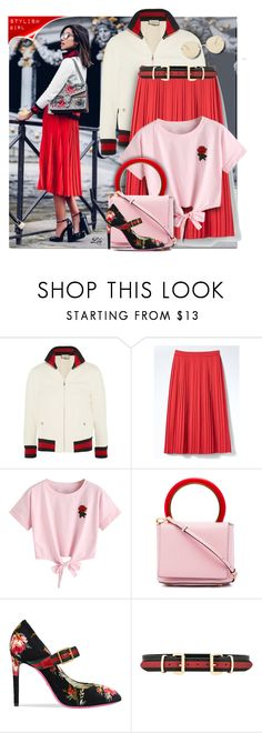 """Street Style Inspiration - 1728"" by breathing-style ❤ liked on Polyvore featuring Gucci, Banana Republic, WithChic, Marni, B-Low the Belt and Le Specs"