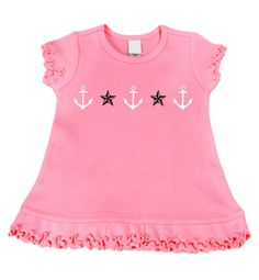 Anchor & Stars Pink dress from Punk Baby Clothes