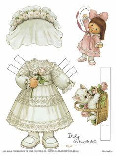 Introduce all sorts of cultures to your child with Friends Around the World paper dolls. (printables)