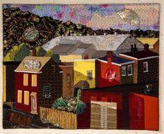 """Evening in Steel Valley, 21 x 26.5"""", by Martha Ressler   SAQA"""