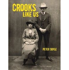 crooks like us, by peter doyle, controlled colour palette, sepia photograph