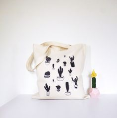 Hey, I found this really awesome Etsy listing at https://www.etsy.com/listing/451187192/cactus-potplant-tote-bag