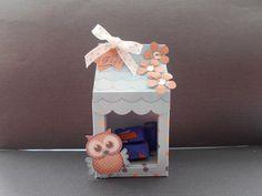 Card Gallery - 3D Little Hoot Owl Tiny Easter Egg Milk Carton or Treat Box