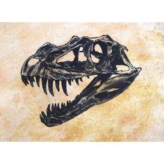 Ceratosaurus dinosaur skull Canvas Art - Harm PlatStocktrek Images (33 x 24)