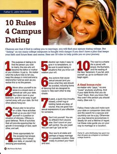 dating advice from the Catholic church for all us single bitches. You know that dating is STRICTLY for those intent on marriage.