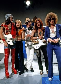 Mott the Hoople, 1973. (Jack the the man who hit his head on our toilet - in red)