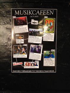 Poster for Musikcaféen.