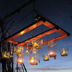 DIY outside chandelier