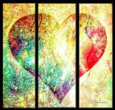 Heart Divided - Bchichester Painting by Barbara Chichester - Heart Divided - Bchichester Fine Art Prints and Posters for Sale fineartamerica.com