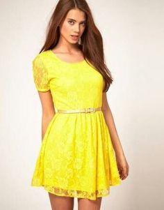 31960a65e Las 41 mejores imágenes de vestidos amarillos