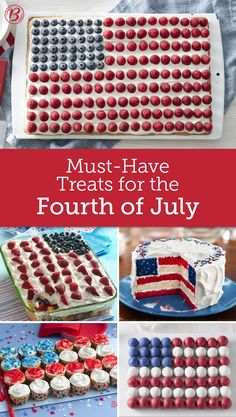 The must-have treats for any July Fourth party! We've got every creative recipe you need to make a patriotic showstopper of a dessert.