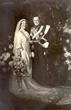 Her Royal Highness Princess Juliana of the Netherlands, Princess of Orange-Nassau, Duchess of Mecklenburg, Princess of Lippe-Biesterfeld and His Royal Highness Prince Bernhard of the Netherlands, Prince of Lippe-Biesterfeld. Married: January 7, 1937.