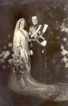 Her Royal Highness Princess Juliana of the Netherlands, Princess of Orange-Nassau, Duchess of Mecklenburg, Princess of Lippe-Biesterfeld and His Royal Highness Prince Bernhard of the Netherlands, Prince of Lippe-Biesterfeld. Married: January 7, 1937