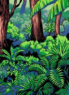 A gorgeus fine piece of #pixelart #jungle
