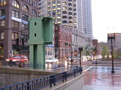 What's left of Boston's Central Artery after the Big Dig.  One elevated freeway column.